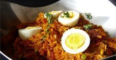 Tin fish biryani is an easy alternative to lamb or chicken biryani. A medley of rice, spice and tin fish (canned pilchards) Fish Biryani, Biryani Recipe, Lamb, Tin, Spices, Chicken, Breakfast, Recipes, Food