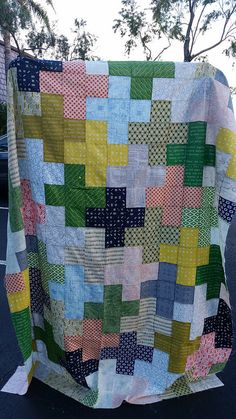 Plus quilt top. Jen Baker tutorial.