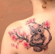 51+ Owl Sitting On Branch Tattoos Ideas