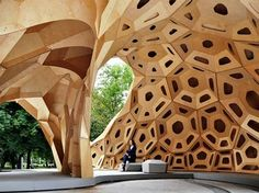Bionic Research Pavilion Explores the Sand Dollar's Skeleton Morphology #design