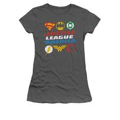 Justice League - Pixel Logos Junior T-Shirt