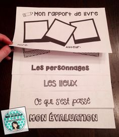 FRENCH book report Flip Book. How fun!
