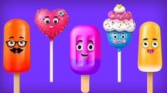 Cup Cake Finger Family Song | Ice Cream Popsicle finger family and more | Cake Pop Finger Family
