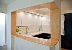 Modern Bamboo Kitchen Bar/ Pass through - modern - kitchen - san diego - Neal McEwen