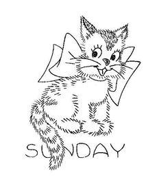 Sunday - Vintage Embroidery Pattern