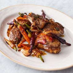 Warming and hearty, this recipe for Sticky Lamb Chops with carrots from the book of Jamie Oliver's Channel 4 series, Quick & Easy Food, makes a perfect Sunday lunch.