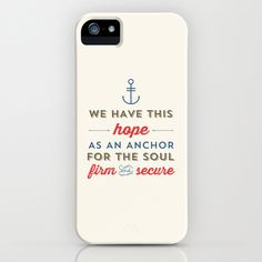 ANCHOR FOR THE SOUL iPhone & iPod Case by Allyson Johnson - $35.00