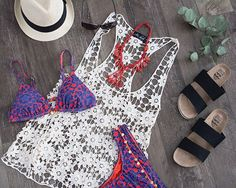 A few of our favourite things! A gorgeous bikini with accessories on point!