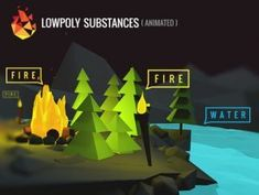 Add depth to your project with Lowpoly Substances asset from Dustyroom. Find this & more VFX options on the Unity Asset Store. Unity 3d, Game Assets, Game Design, Animation, Projects, Gaming, Free, Models, Water