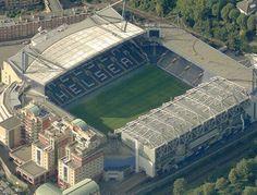 Stamford Bridge, home of Chelsea Football Club. London Football, British Football, European Football, Soccer Stadium, Football Stadiums, Football Soccer, Chelsea Football Club, Fc Chelsea, Chelsea London