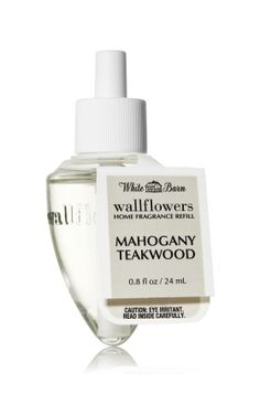 Mahogany Teakwood, cozy fine woods fragrances of mahogany, cedarwood and oak, highlighted by delicate lavender and geranium notes