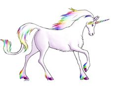 unicorn in front of a rainbow drawing | Rainbow Unicorn by ~Articubone on deviantART