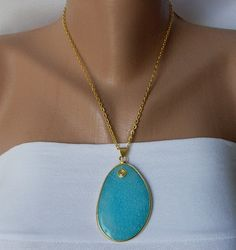 Blue Jade Gemstone Necklace