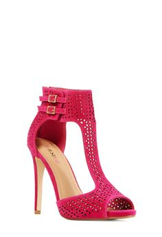 Seria from JustFab It would go nicely with their Impression clutch. #pink