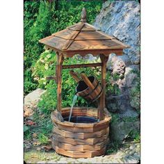 Wishing Well Fountain. Garden Fountains Archives - Page 4 of 4 - Best Indoor Fountains Indoor Water Fountains, Indoor Fountain, Garden Fountains, Fountain Garden, Fountain Ideas, Fountain Design, Outdoor Fountains, Garden In The Woods, Lawn And Garden