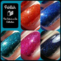 Pahlish: The Cake is a Lie Collection - Swatches and Review | Pointless Cafe