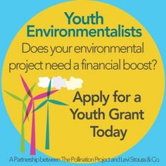 "JVNA is a partnering organization of The Pollination Project, which is offering a new round of grants to people 22 years of age and younger who have an environmental project.    Know anybody who might qualify for such funding? And, oh, by the way, ""promotion of plant-based diets"" is high on their list of criteria."