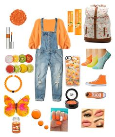"""""""Orange 🍊🍊🍊"""" by cupcakesandsprinkles2004 ❤ liked on Polyvore featuring TIBI, Hollister Co., Vans, Converse, Casetify, Beauty Is Life, Illamasqua, Yves Saint Laurent, Lokai and WALL"""
