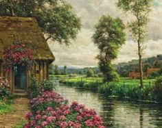 Along the River , Beaumont by Louis Aston Knight in PDF format. All my patterns are created using a combination of computer and hand correction. The second photo you see is an exact preview of the finished piece. There is no backstitching in the design. Please, look especially the faces of my patterns, after you zoom in, from a distance of approximately 25 inches to see the final result.  With your purchase you will receive with electronic delivery to your email box. 1. A PDF picture that…
