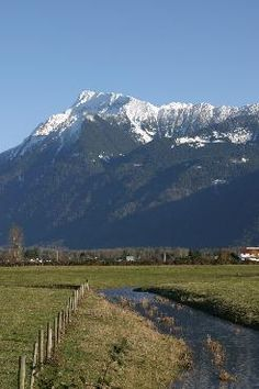 Chilliwack, BC - one of the most beautiful mixtures of farm scenery and mountain scenery in British Columbia. Mountain in photo is Mount Cheam named after the local natives. Rocky Mountains, British Columbia, West Coast Canada, Bc Home, Vancouver City, Alaska, Fraser Valley, Seen, Places Of Interest