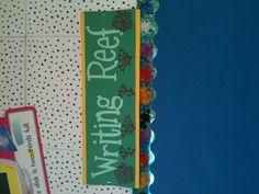 Beach Theme for my classroom. Writing Reef as my writing bulletin board.