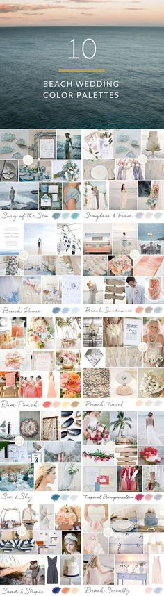 10 Color Palettes for Beach Weddings | SouthBound Bride