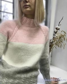 Service d& en ligne russe - Джемперы, Топы - Baby Knitting Patterns, Knitting Stitches, Knitting Designs, Hand Knitting, Crochet Pullover Pattern, Prom Dresses Long Pink, Wool Embroidery, Mohair Sweater, Crochet Scarves