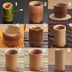1 X Bamboo Drinking Cup Tea Water Beer Camping Travel Mug Gift Vintage Style New. 1 X Bamboo Drink Bamboo Cups, Bamboo Art, Bamboo Crafts, Bamboo Dishes, Style Vintage, Vintage Fashion, Deco Spa, Bamboo Structure, Bamboo Architecture