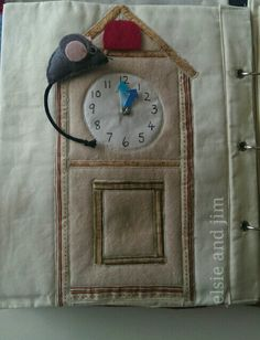 Hickory dickory dock clock page with moveable hands. By elsie and jim