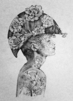 Melbourne based artist Jessica Stewart creates dreamy,monochromatic portraits of pale skinned youths and woodland creatures. Jessica Stewart, A Level Art, Ap Art, Woodland Creatures, Art Club, Magazine Art, Surrealism, The Dreamers, Illustrators