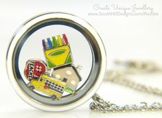 South Hill Designs - Teacher's Gift Locket Charms, Lockets, South Hill Designs, Picture Design, Gift Bags, Teacher Gifts, Best Gifts, Unique Jewelry, Fancy