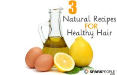 Homemade Beauty Recipes for Healthy Hair | via @SparkPeople #DIY #beauty #pantry #kitchen