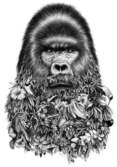 Graphic design and illustration studio Violaine & Jeremy create stunning graphite pencil drawings of animals and people merging with wildlife and nature. Surreal illustrations feature wild and domestic critters propped with various attributes of human world: spectacles, patterned scarve