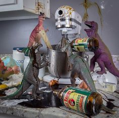 Every November, Dinosaurs Come Alive & Create Chaos In This Cool Household
