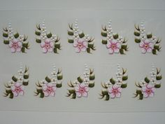 Manicure And Pedicure, Nail Art, Nails, Manicures, Embroidery, Design, White Nail Beds, Art Nails, Embroidered Towels