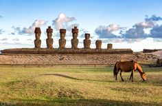 Anekana Beach, Rapa Nui, Chile - March 2016 by Graham Gilmore Framed Prints, Canvas Prints, Art Prints, Easter Island, Monument Valley, Chile, Places To Visit, United States, Horses