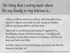 #StateofHeroes More Words from Caregivers of Our Heroes   Shared by Family Of a Vet, Inc., a national non-profit 501(c)3 organization dedicated to helping veterans and their families learn how to cope with PTSD (post-traumatic stress disorder), TBI (traumatic brain injury) and life after combat through real-world