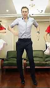 "Tom dancing. I will never stop repinning this ☺--  ""Never, ever, let anyone tell you what you can and can't do. Prove the cynics wrong. Pity them for they have no imagination. The sky's the limit. Your sky. Your limit. Now. Let's dance."" TH"