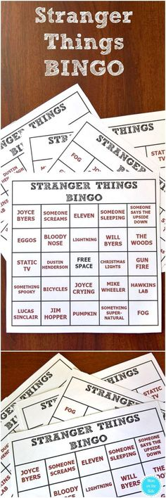 Stranger Things 2 is coming and these Printable Stranger Things BINGO Cards will add to the excitement! Stranger Things Theme, Stranger Things Halloween, Stranger Things Season 3, 11th Birthday, Birthday Parties, Birthday Ideas, Birthday Favors, Bingo Cards, Task Cards