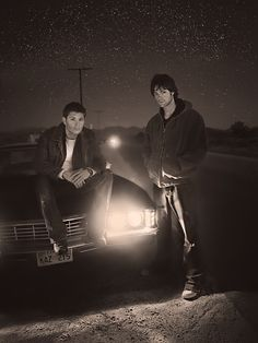 Dean and Sam, they look soo good. When the series just started, I remember I saw the first three seasons, and then stopped, and a few years after, the show got so freaking popular...