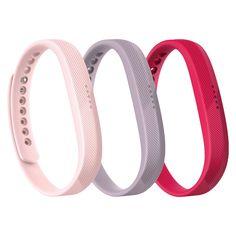 Fitbit Flex 2 Fitness Monitor Strap Small 3 pk - Multicolored, Blue/Red/Blue