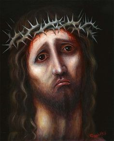 Christ Portrait #4 | by rsconnett... Same artist. I think I'm obsessed with his work. So much interesting stuff.