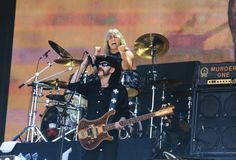 Mikkey Dee and Lemmy Kilmister of Motorhead perform on stage on Day 2 of British Summer Time Festival at Hyde Park on July 4, 2014 in London, United Kingdom