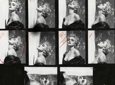 Some unpublished outtakes from the photo shoot for Madonna's True Blue album. Stunning!