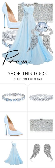 """""""Blue Fairy"""" by fabulousgurl ❤ liked on Polyvore featuring Belk & Co., Harry Winston, Casadei, Milly, BERRICLE, disneybound and Pinocchio"""