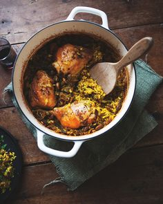 Middle Eastern Spiced Chicken with Baked Rice and Pistachio — a Better Happier St. Sebastian