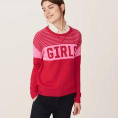 Jumper Geranium Red Sheer Sweater SIZE