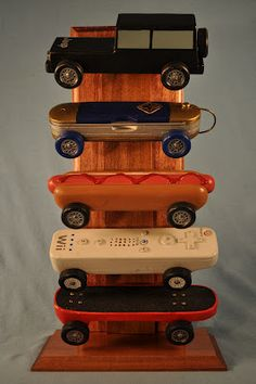 Pinewood Derby Car Displays