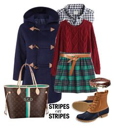 """""""Stripes on stripes"""" by prepstepkate ❤ liked on Polyvore featuring J.Crew, Isabel Marant, Brooks Brothers and L.L.Bean"""