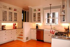 Craftsman Bungalow Interiors | Hewn and Hammered: white Craftsman kitchen remodel